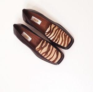 Talbots Pony Hair Zebra Loafers